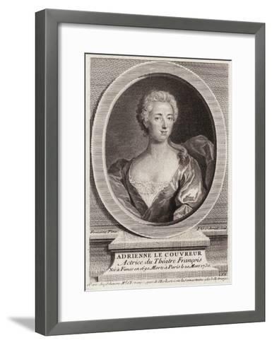 Adrienne Lecouvreur, Oval-FG Schmidt-Framed Art Print