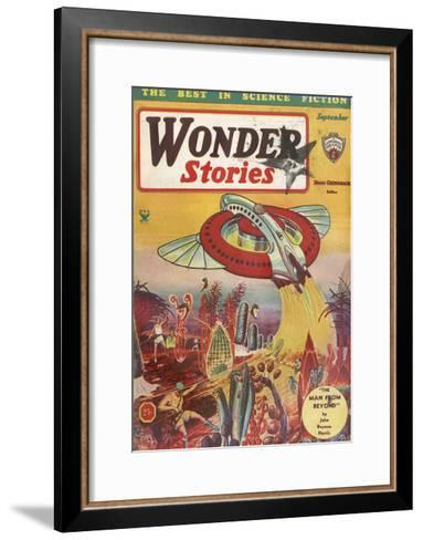 The Man from Beyond-Frank R Paul-Framed Art Print