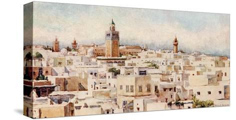 Tunisia, Tunis View 1912-Frances E Nesbitt-Stretched Canvas Print