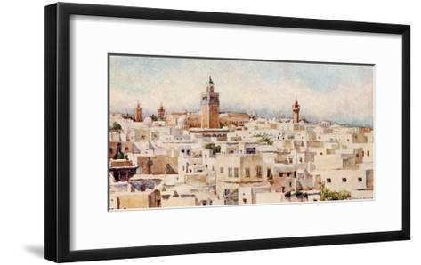 Tunisia, Tunis View 1912-Frances E Nesbitt-Framed Art Print