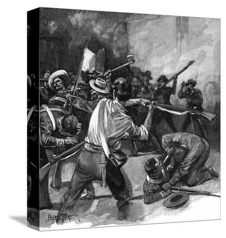 Remember the Alamo!-Ernest Prater-Stretched Canvas Print