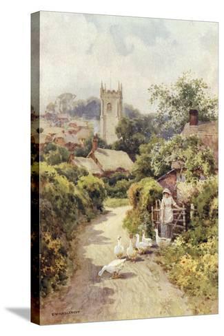 Bere Regis, Dorset-Ernest W Haslehust-Stretched Canvas Print