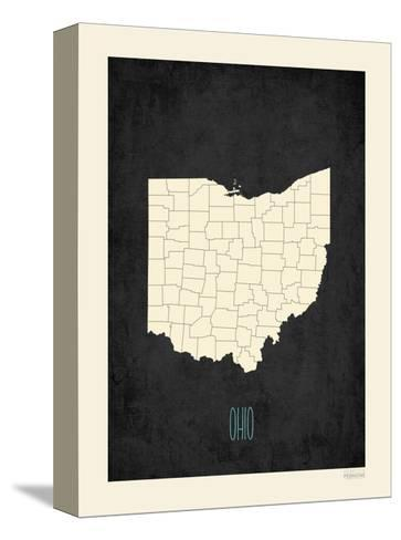 Black Map Ohio-Kindred Sol Collective-Stretched Canvas Print