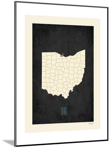 Black Map Ohio-Kindred Sol Collective-Mounted Art Print