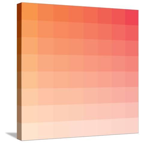 Citrus Square Spectrum-Rebecca Peragine-Stretched Canvas Print