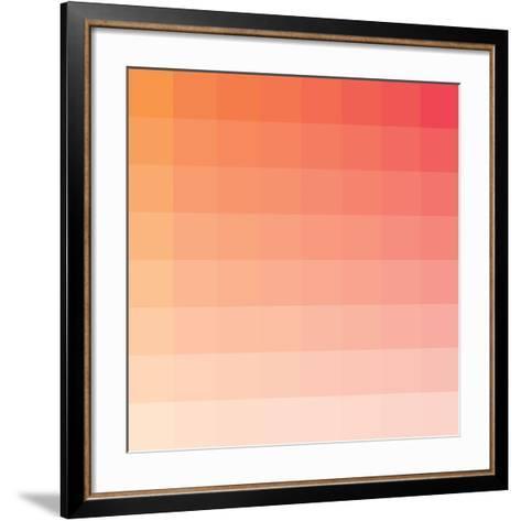 Citrus Square Spectrum-Rebecca Peragine-Framed Art Print