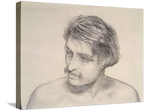 Study of a Man's Head-Robert Braithwaite Martineau-Stretched Canvas Print