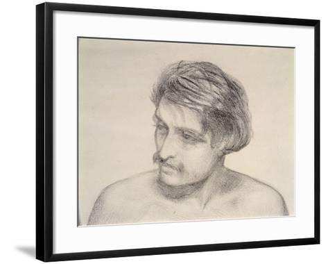 Study of a Man's Head-Robert Braithwaite Martineau-Framed Art Print