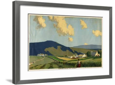 Northern Ireland - Flax Growing, from the Series 'The Home Countries First'-James Humbert Craig-Framed Art Print