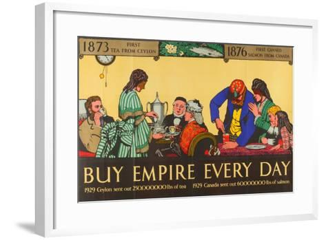 Buy Empire, from the Series 'Milestones of Empire Trade'-Richard Tennant Cooper-Framed Art Print