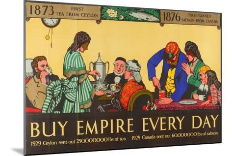 Buy Empire, from the Series 'Milestones of Empire Trade'-Richard Tennant Cooper-Mounted Giclee Print