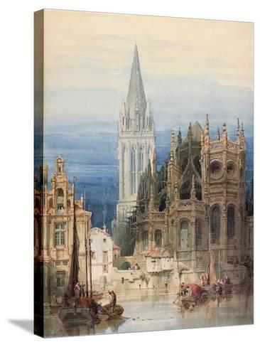 St. Pierre, Caen, 1830-David Roberts-Stretched Canvas Print