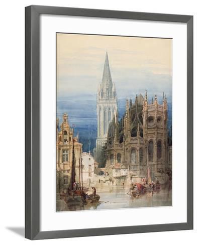St. Pierre, Caen, 1830-David Roberts-Framed Art Print