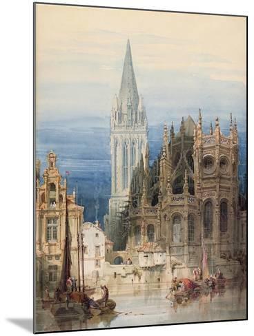 St. Pierre, Caen, 1830-David Roberts-Mounted Giclee Print