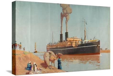 The Suez Canal-Charles Pears-Stretched Canvas Print