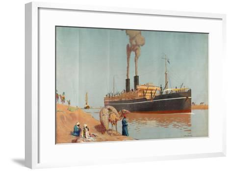 The Suez Canal-Charles Pears-Framed Art Print