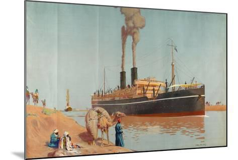 The Suez Canal-Charles Pears-Mounted Giclee Print