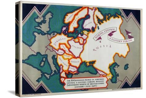 North, Central and Eastern Europe, from the Series 'Where Our Exports Go', 1927-William Grimmond-Stretched Canvas Print