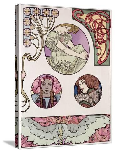 Plate 46 from 'Documents Decoratifs', 1902-Alphonse Mucha-Stretched Canvas Print