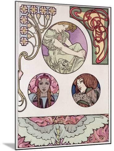 Plate 46 from 'Documents Decoratifs', 1902-Alphonse Mucha-Mounted Giclee Print