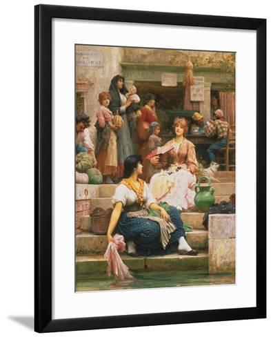 Venetians, 1885-Sir Samuel Luke Fildes-Framed Art Print