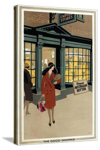 The Good Shopper, from the Series 'Empire Buying Makes Busy Factories'-Frank Newbould-Stretched Canvas Print