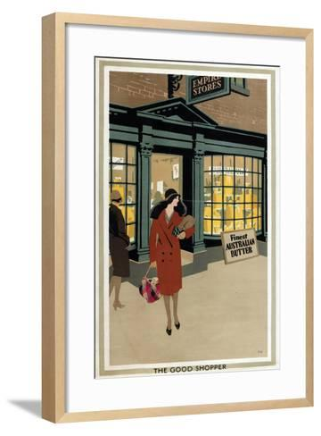 The Good Shopper, from the Series 'Empire Buying Makes Busy Factories'-Frank Newbould-Framed Art Print