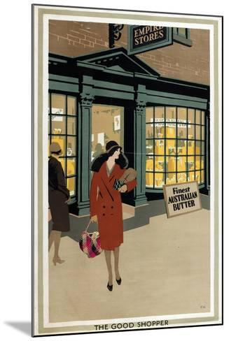 The Good Shopper, from the Series 'Empire Buying Makes Busy Factories'-Frank Newbould-Mounted Giclee Print