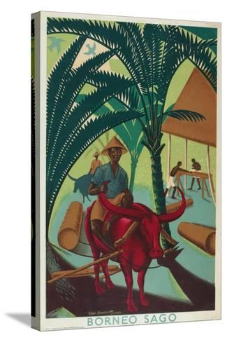 Borneo Sago, from the Series 'Buy from the Empire's Gardens', 1930-Edgar Ainsworth-Stretched Canvas Print