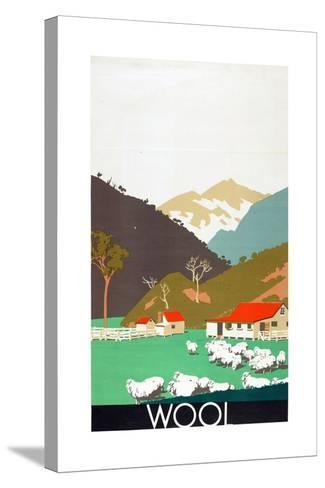 Wool, from the Series 'Buy New Zealand Produce'-Frank Newbould-Stretched Canvas Print