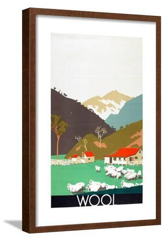 Wool, from the Series 'Buy New Zealand Produce'-Frank Newbould-Framed Art Print