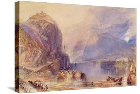 The Drachenfels, Germany, C.1823-24-J^ M^ W^ Turner-Stretched Canvas Print
