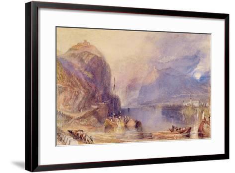 The Drachenfels, Germany, C.1823-24-J^ M^ W^ Turner-Framed Art Print