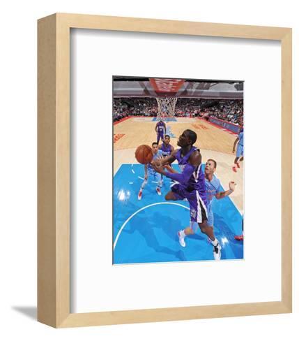 Sacramento Kings v Los Angeles Clippers-Andrew D.  Bernstein-Framed Art Print