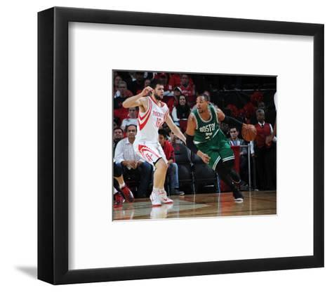 Boston Celtics v Houston Rockets-Bill Baptist-Framed Art Print