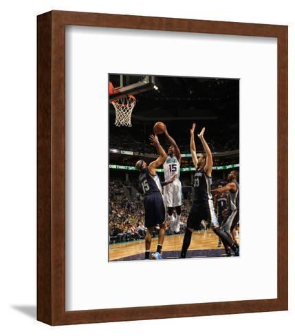 Memphis Grizzlies v Charlotte Hornets-Kent Smith-Framed Art Print