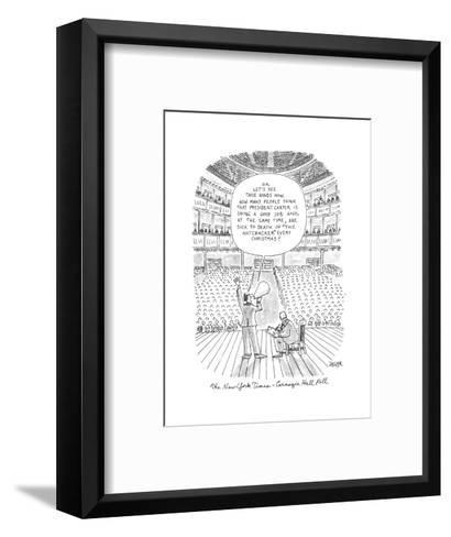 New Yorker Cartoon-Jack Ziegler-Framed Art Print