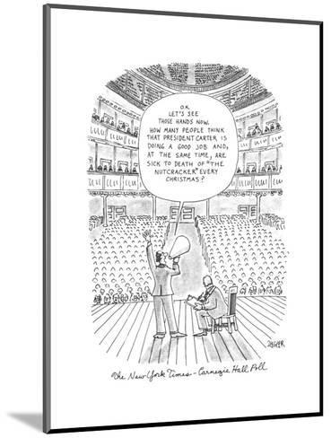 New Yorker Cartoon-Jack Ziegler-Mounted Premium Giclee Print