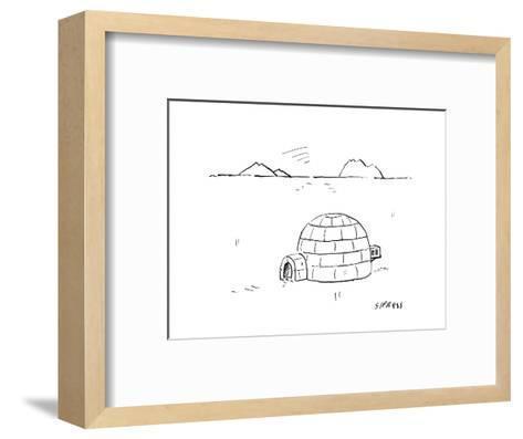 Igloo with air conditioning - Cartoon-David Sipress-Framed Art Print
