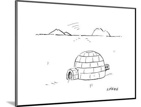 Igloo with air conditioning - Cartoon-David Sipress-Mounted Premium Giclee Print