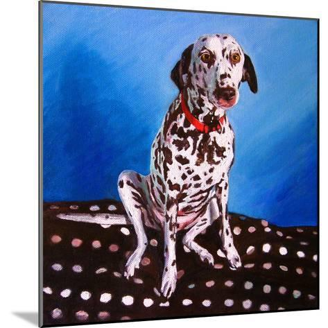 Dalmatian on Spotty Cushion, 2011-Helen White-Mounted Giclee Print