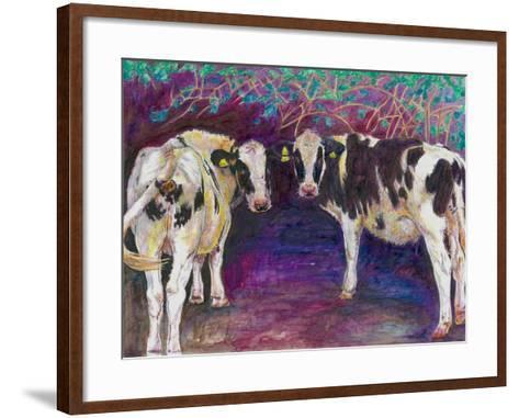 Sheltering Cows, 2011-Helen White-Framed Art Print