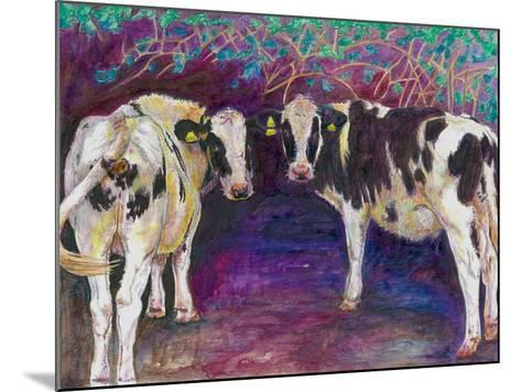Sheltering Cows, 2011-Helen White-Mounted Giclee Print