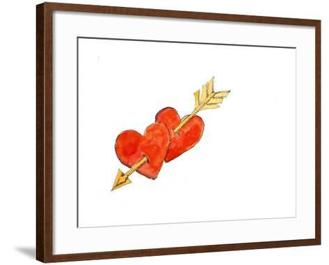 Two Hearts - Arrow, 2011-Jennifer Abbott-Framed Art Print