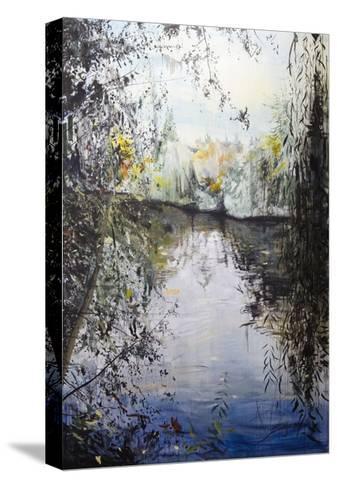 Approaching Dusk, Goldbekkanal, Hamburg, 2014-Calum McClure-Stretched Canvas Print