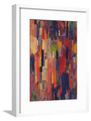 Mme Kupka among Verticals-Frantisek Kupka-Framed Art Print