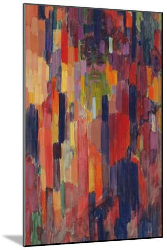 Mme Kupka among Verticals-Frantisek Kupka-Mounted Giclee Print