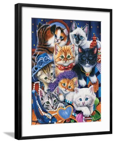 Kittens in Closet-Jenny Newland-Framed Art Print
