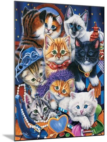 Kittens in Closet-Jenny Newland-Mounted Giclee Print