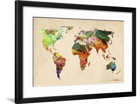Map-Mark Ashkenazi-Framed Art Print